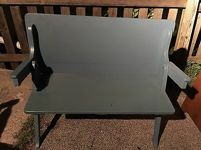 Vintage Solid Wood Painted Convertible Bench to Table