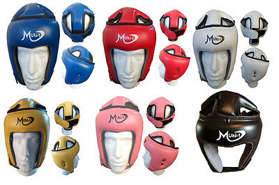 Training Head Guard Helmet Boxing MMA Martial Art Kick Gear Face Protector