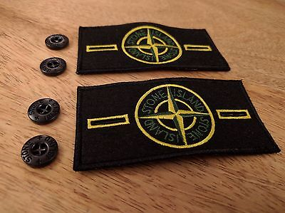 2 Stone Island Badge Patch with 4 Buttons