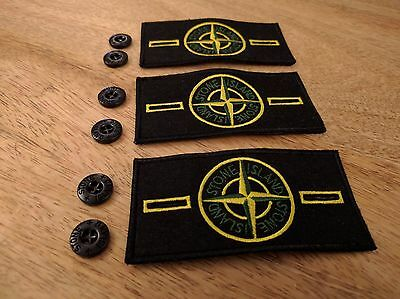 3 Stone Island Badge Patch with 6 Buttons