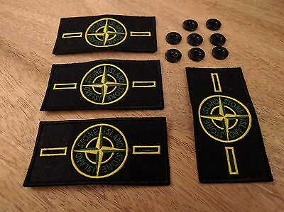 4 Stone Island Badge Patch with 8 Buttons