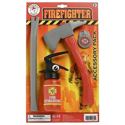 Firefighter Accessory Pack Costume Accessory Kit Kids Halloween