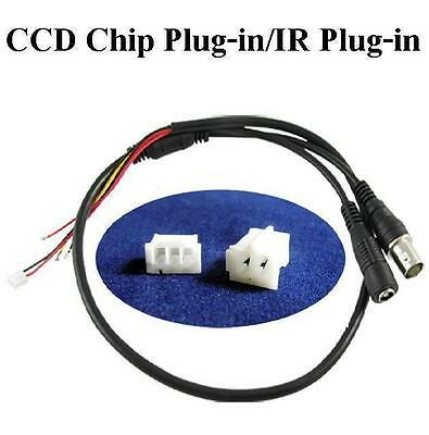HMQC Power Video BNC DC to Stripped Wire cctv end cable for PCB Board Camera