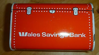 Bank Of New South Wales Metal Money Box Vintage Treasure Chest