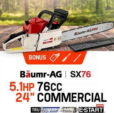 "24"" 76cc Chainsaw Genuine MTM Pro-Series with Easy Start Commerical Chainsaw"