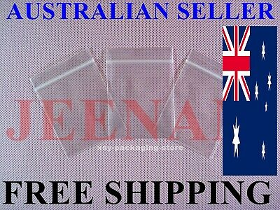 100 Small ZipLock Zip Lock Plastic Resealable Plastic Bag 75MMX50MM + FREE SHIP