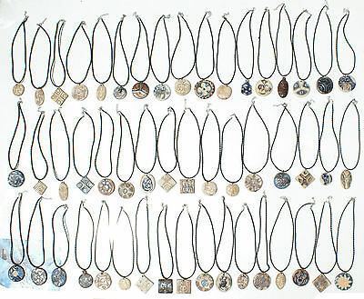 Lot 12 Necklaces African Ethnic Tribal Jewelry Chota Valley Clay Ecuador Art