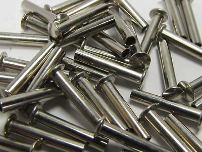 NEW-KNIFE-PARTS- Nickel Silver Dome Head Female Pins/Rivets 12mm shaft S9