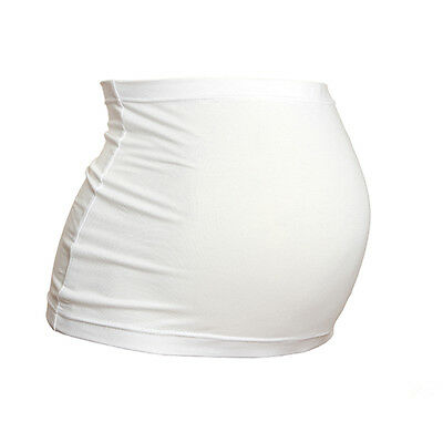 Plus Size Maternity BellyBand/Bump Band by Harry Duley. White Cotton. Made in UK