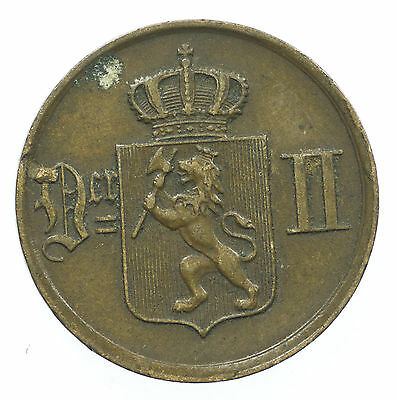 Norway, 1 Ore, Norge, 1876