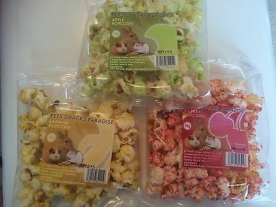 Pet Pops Popcorn treats  for small animals (3 x Packs) - Hamsters, Rabbits etc