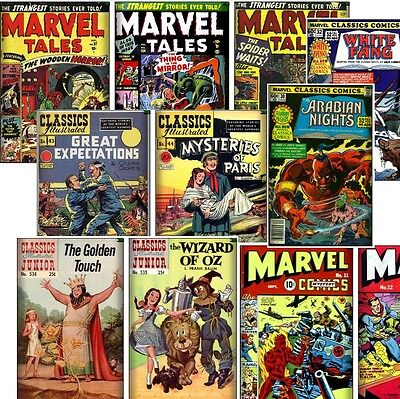 360+ Vintage Golden Age Classics Illustrated Story COMICS, Marvel Tales (on DVD)