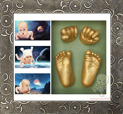 DIY 3D Casting Kit Baby Keepsake & Shadowbox photo frame  #1BJ