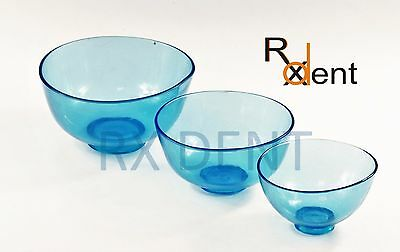 Lab Plaster Alginate Plaster Flexible Rubber Mixin Bowls S M L Dental Lab Bowls