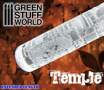 Rolling Pin - TEMPLE bricks Texture - Create your own bases - Ininity, Warhammer