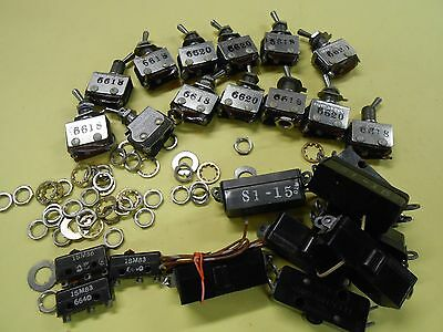 Huge Lot of Microswitch Toggles 6AT1 & NOS Microswitches Electro-Snap S1-15 (8)
