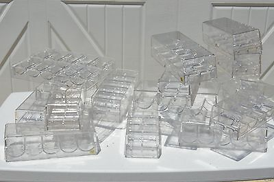 Casino Clear Plastic  Poker Chip Tray Home Professional Clay holder lot