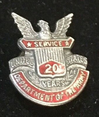 Vintage Department of the Army Sterling Silver Antique Pin