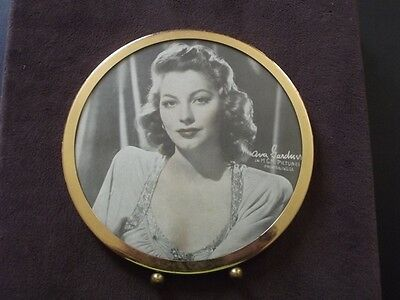 Gold Tone Framed Ava Gardner - M.g.m. Pictures Tinted Color Photo