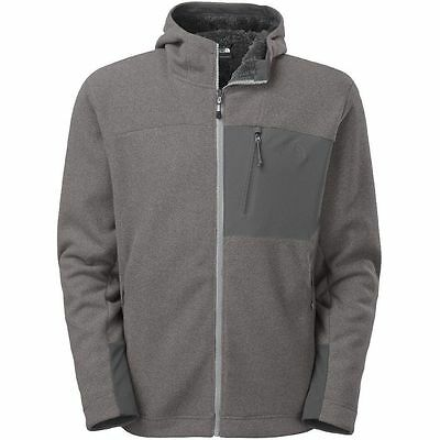 The North Face Mens Chimborazo Full Zip Hooded Fleece High Rise Grey Xl Jacket