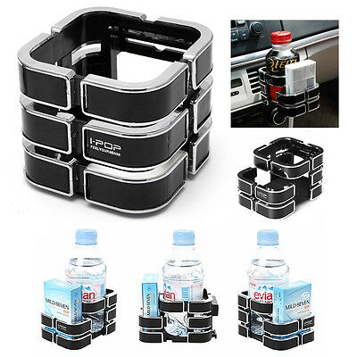 Black Universal  Multifunction Car Auto Drink Bottle Cup Phone Holder Stand