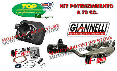 Kit Moteur 70 Cc Cylindre Dr 43 Sp 10 Silencieux Giannelli Fire Piaggio Ciao