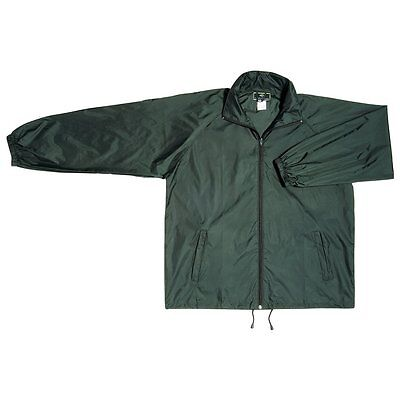 Spray Jacket Size S M L XL Lightweight Coat Adults Mens Ladies Bottle Green
