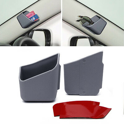 2X Universal Car Auto Accessories Glasses Organizer Storage Box Holder Gray