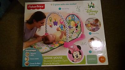 Disney Minnie Mouse Musical Garden Baby Gym By Fisher-Price *nib*