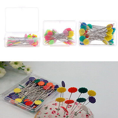 50pc Patchwork Pins Flower Button Head Pins DIY Quilting Tool Sewing Accessories