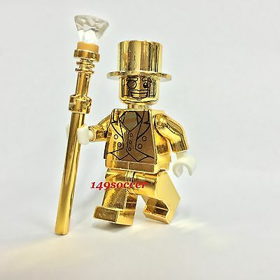 Lego Mr Gold Series 10 **custom** Collectible Minifigure Mr. Gold Machine Print