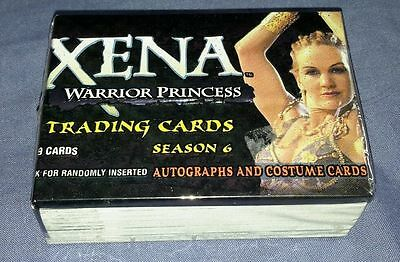 Xena Warrior Princess Season 6 Complete Set of 72 Trading Cards. Mint.