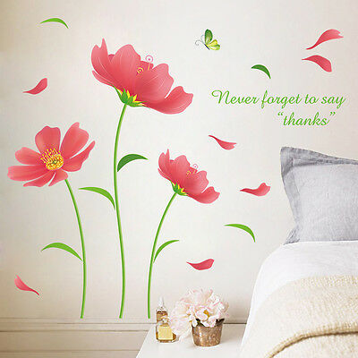 DIY Flower Removable Art Vinyl Quote Wall Sticker Decal Mural Home Room Decor