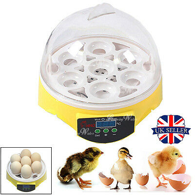 Digital Automatic 7 Eggs Incubator Poultry Chicken Duck Goose Bird Pet Hatcher