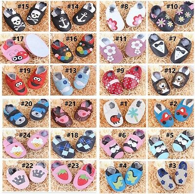 Leather Infant Baby boots Prewalker Boy Girl Baby Soft Sole Crib Kids Shoes S