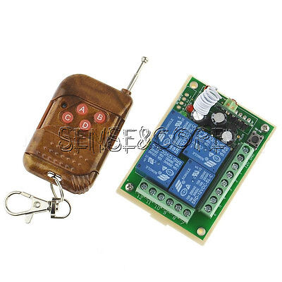 DC12V 4 Channel Relay module remote controller switch RF receiver & Transmitter