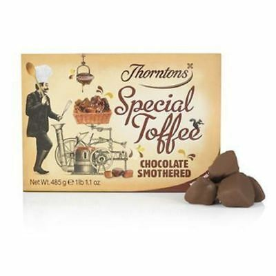 Thorntons Chocolate Smothered Special Toffee Box (485g)