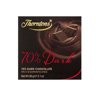 Thorntons 70% Deliciously Dark Chocolate Block (90g)