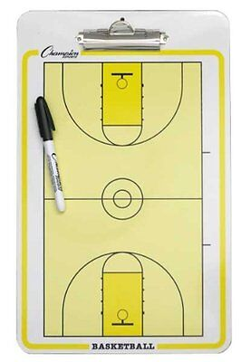 Champion Sports Basketball Coaches Board with dry erase marker