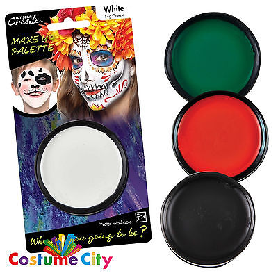 14g Grease Based Theatre Face & Body Paint Make Up Palette - 4 Colours Available