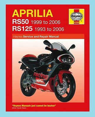 MAN4298 Haynes Workshop Manual Aprilia RS RS50 1999 to 2006 & RS125 1993 to 2006