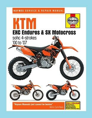 MAN4629 Haynes Workshop Manual KTM EXC 250 400 450 520 525 models 2000 to 2007