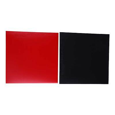 2Pcs Table Tennis Racket Pips In Raquette Rubber Red/Black High Quality
