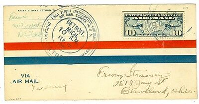 1926 Cam Flight Cover 6E1 Detroit To Cleveland C7, Ford Motor Co.