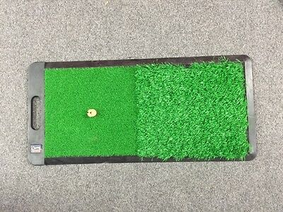 GOLF - 2 IN 1 Chipping Driving Drive Hitting Practice Mat - Turf Grass -Practice