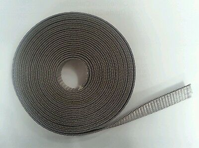 Quality 14mm Roller Shutter Strap. Woven Grey Strap Material 5 Metres Long.