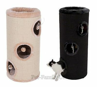 4 in 1 DIOGENES cat scratching barrel tree post bed house scratcher activity toy