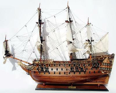 "HMS Prince Ship Model 38"" - Handcrafted Wooden Ship Model"