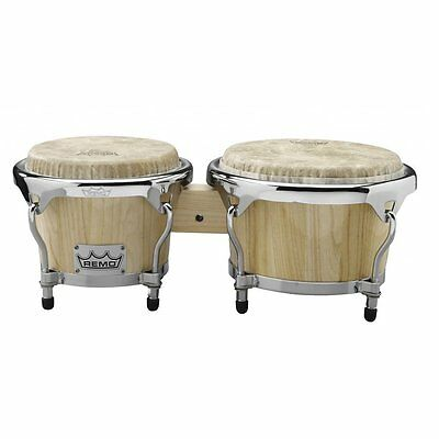 Remo Crown Bongos - Natural Finish
