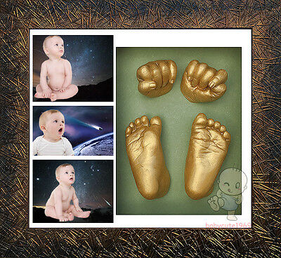 DIY 3D Casting Kit Baby Keepsake & Shadowbox photo frame   #7Gold Needle